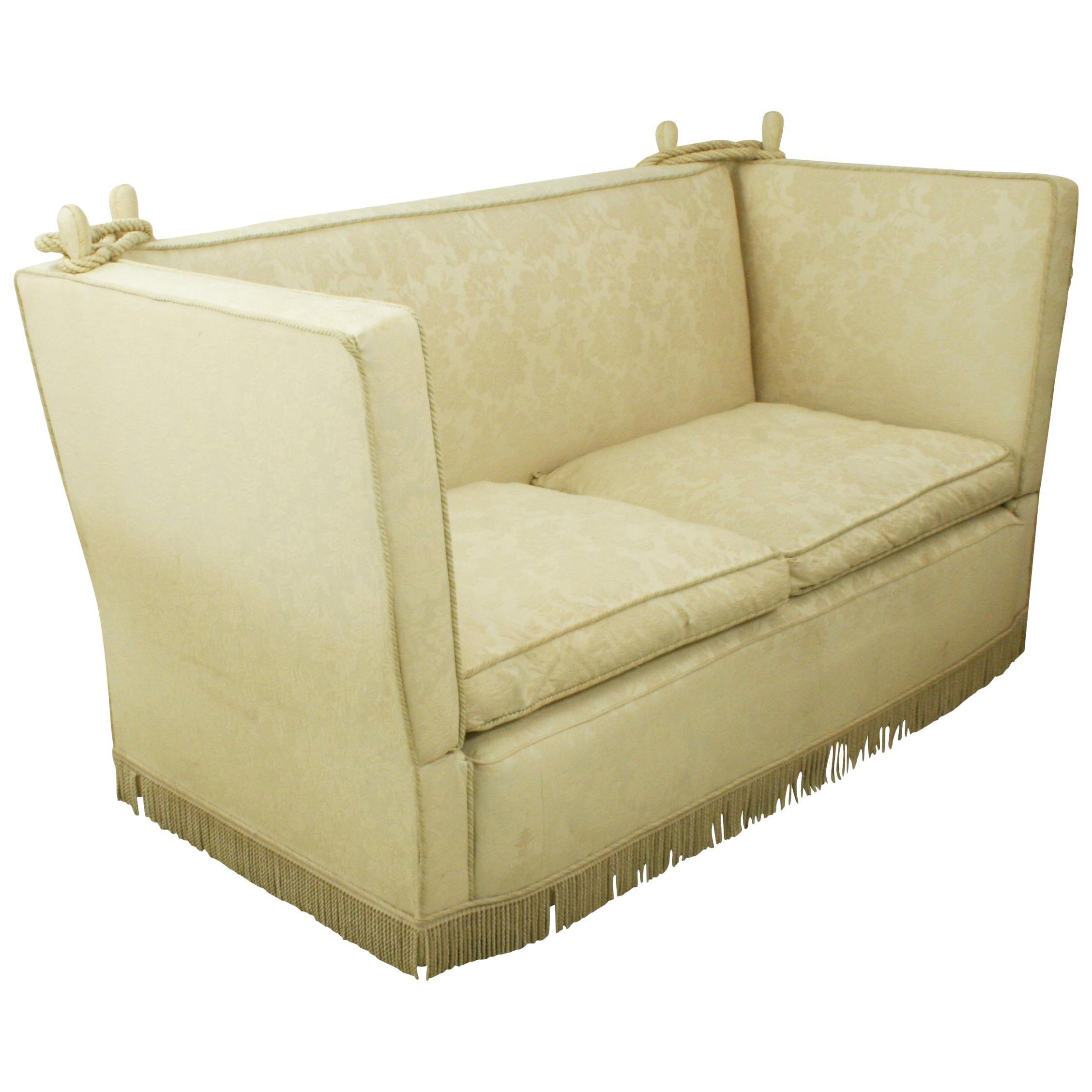 Antique Knole Sofa, Sofa with Drop Down Sides, Edwardian, circa 1910