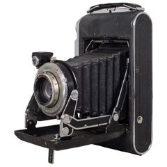 "Antique Kodak ""No. 1 Supermatic"" Folding Camera and Leather Case, circa 1930"