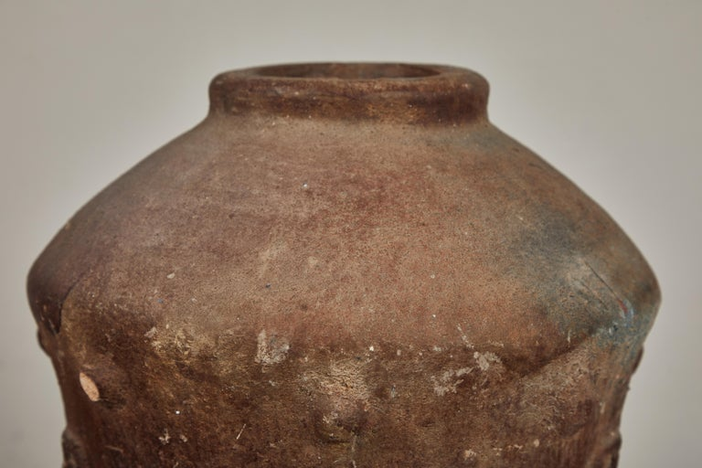 Fired Antique Korean Terracotta Crock For Sale