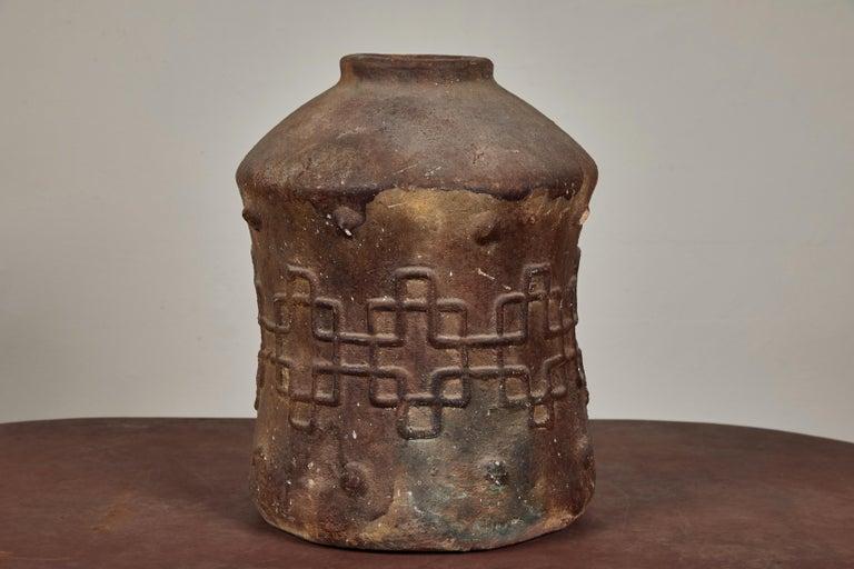 Antique Korean Terracotta Crock In Fair Condition For Sale In Los Angeles, CA