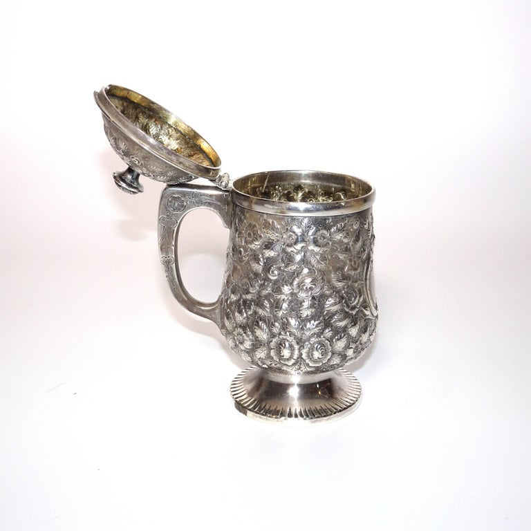 American 19th Century Jelly Pot in Sterling Silver By Krider & Biddle from A. E. Warner For Sale