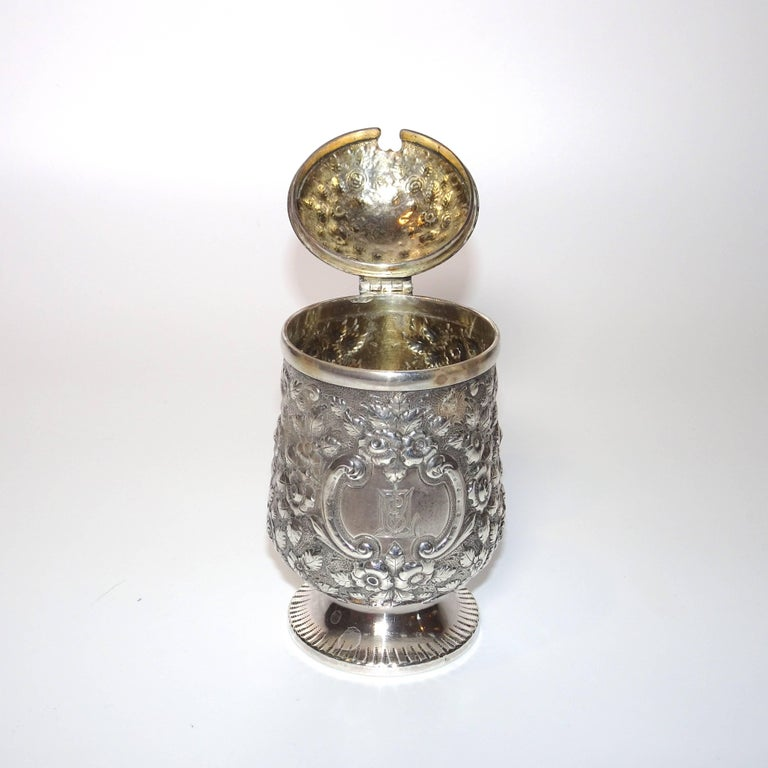 19th Century Jelly Pot in Sterling Silver By Krider & Biddle from A. E. Warner For Sale 1