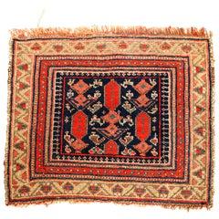 Antique Kurdish Bagface Oriental Rug, circa 1900