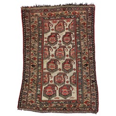 Antique Kurdish Persian Accent Rug with Boteh Pattern in Traditional Style
