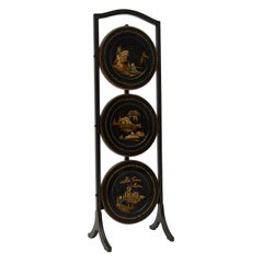 Antique Lacquered Chinoiserie Cake Stand
