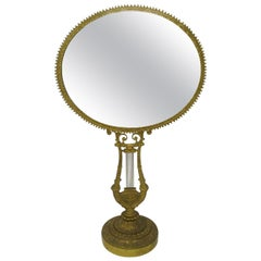 Antique Lady's French Ormolu Bronze Dressing Table Vanity Mirror Grand Tour