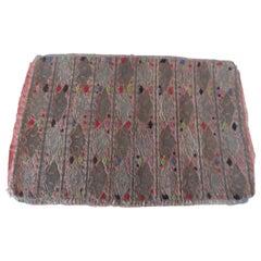 Antique Laos Embroidered Metallic Threads Textile