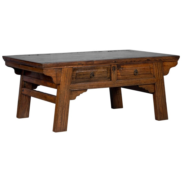 Antique Laquered Chinese Elm Coffee Table For Sale At 1stdibs