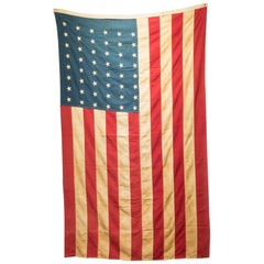Antique Large American Flag with 48 Stars, circa Pre-1940s
