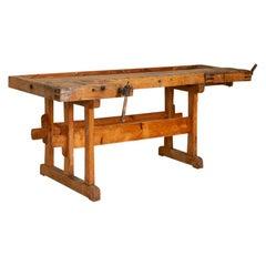 Antique Large Carpenter's Workbench