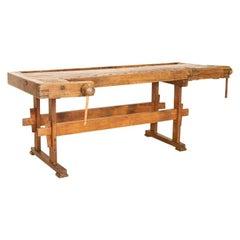 Antique Large Carpenters Workbench