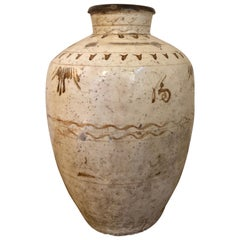 Antique Large Cizhou Vase Stoneware Pottery/Vessel