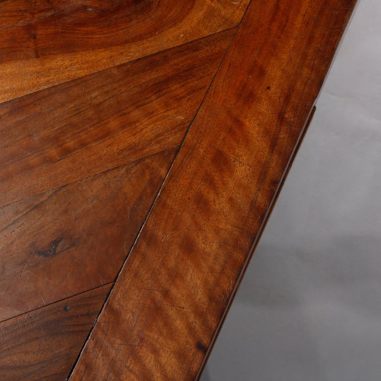 Large Continental Parquetry Inlaid Walnut Draw-Top Dining Table, circa 1900 For Sale 7