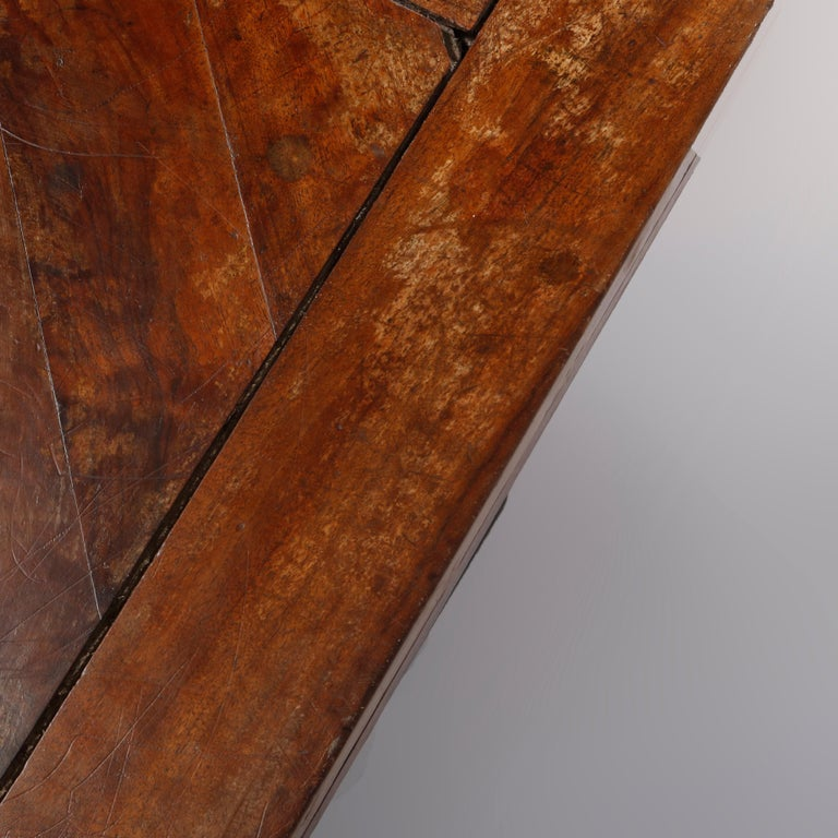 Large Continental Parquetry Inlaid Walnut Draw-Top Dining Table, circa 1900 For Sale 8