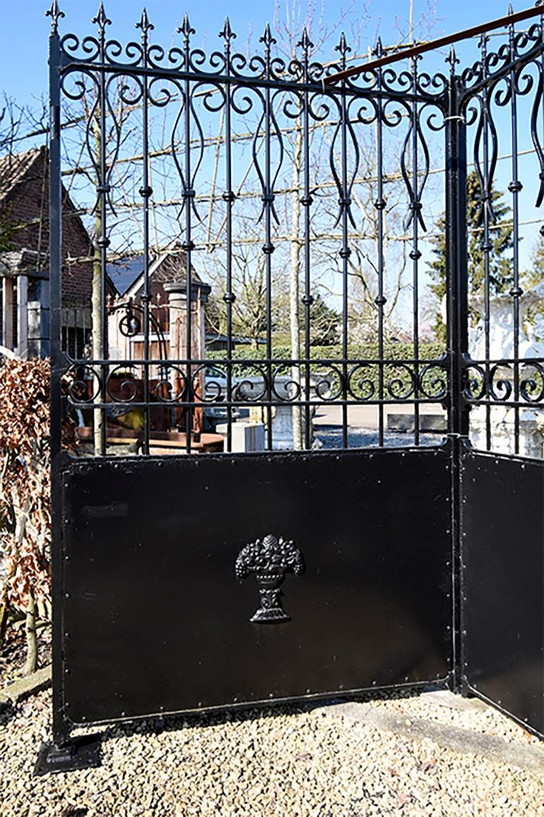 Nice antique gate already treated and painted black.
