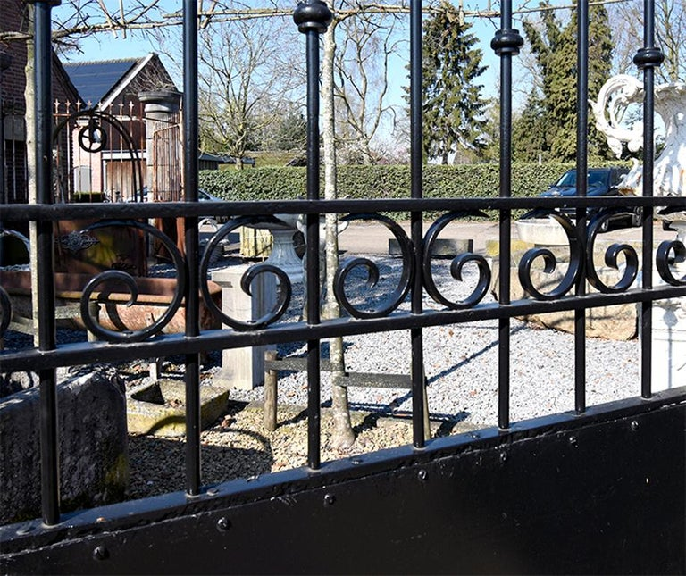 French Antique Large Double Entry Gate, 19th Century For Sale