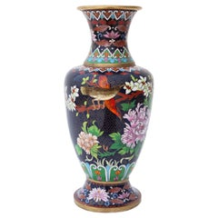 Antique Large Early 20th Century Oriental Cloisonné Vase