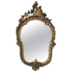 Antique Large Gilt 19th Century Overmantle or Wall Mirror