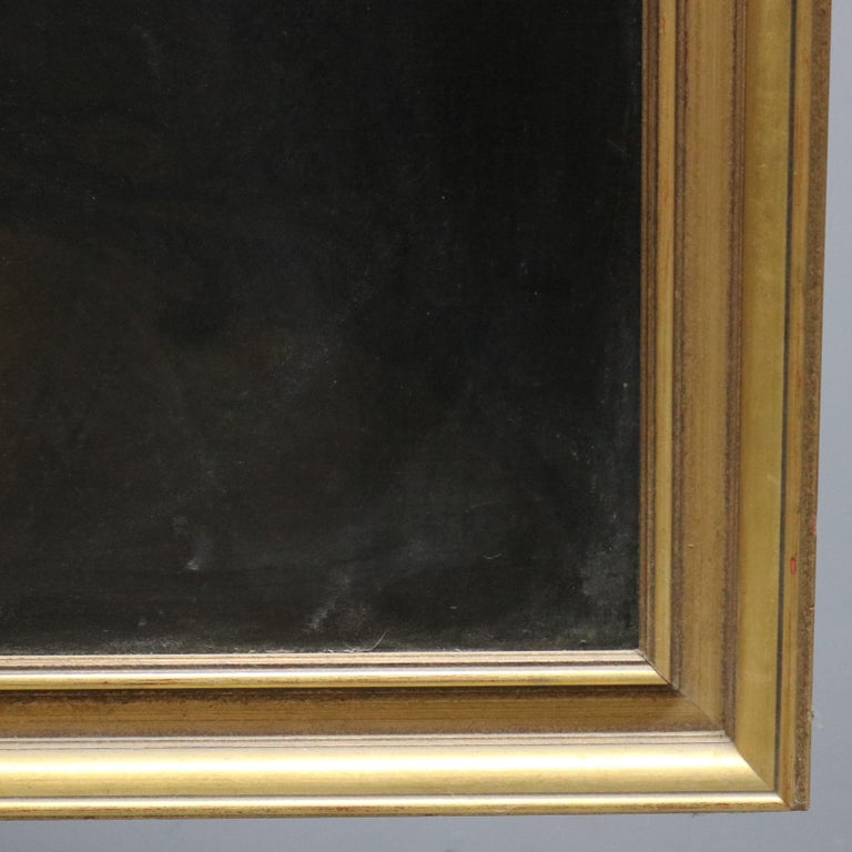 Large and Giltwood Framed Oil on Canvas Portrait of French Woman by Giradot 1872 2