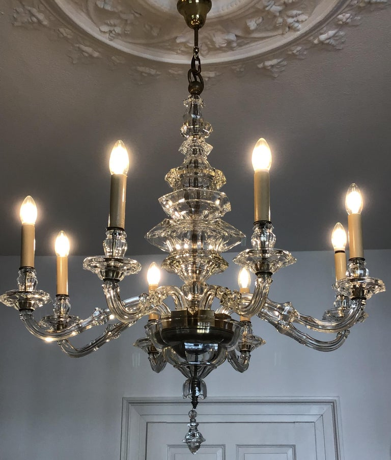 Antique Large Italian Glass Chandelier, 19th Century, circa 1870 For Sale 6