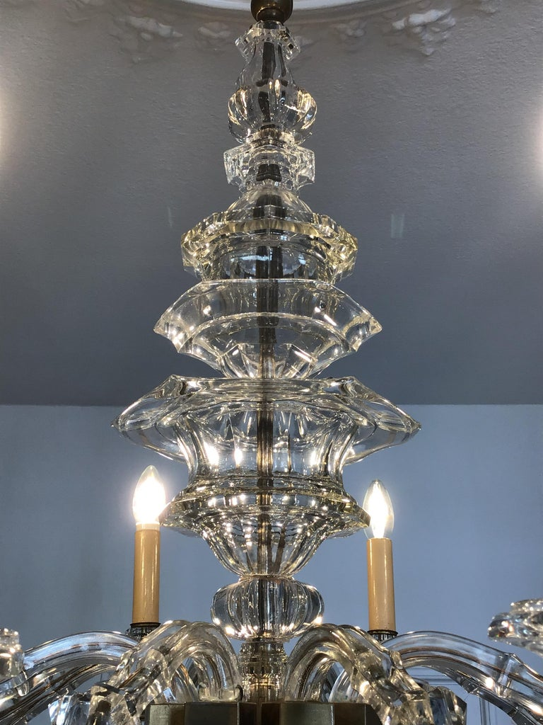 Antique Large Italian Glass Chandelier, 19th Century, circa 1870 For Sale 7
