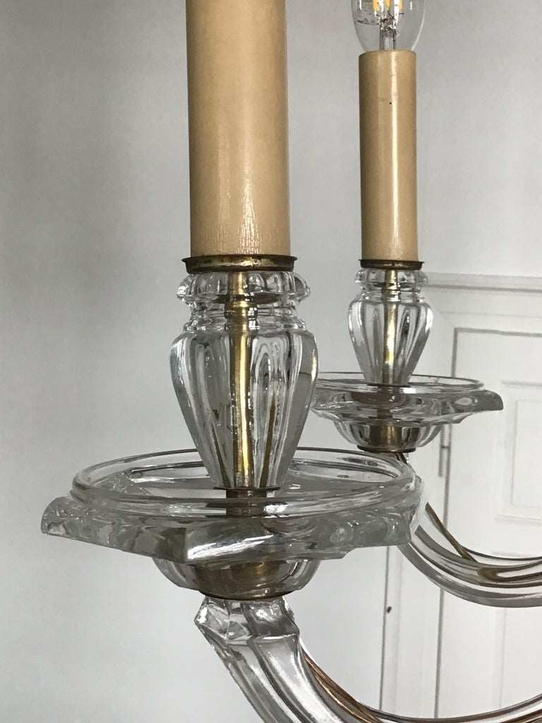 Antique Large Italian Glass Chandelier, 19th Century, circa 1870 For Sale 8