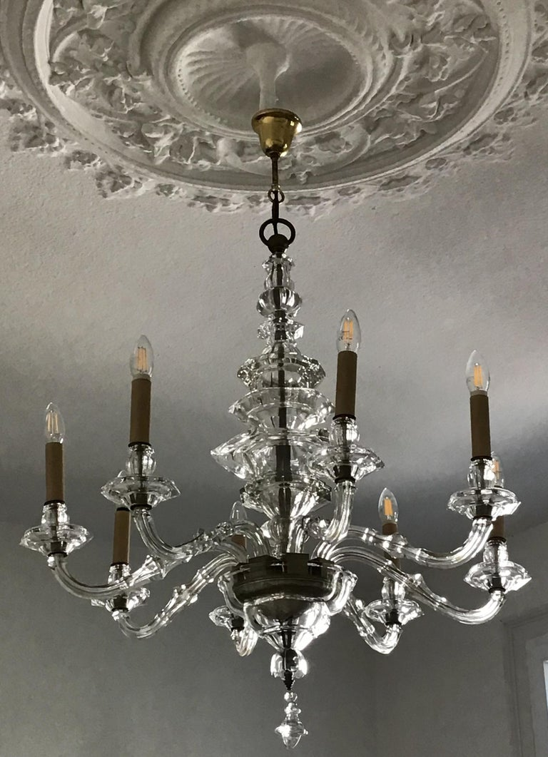 Antique Large Italian Glass Chandelier, 19th Century, circa 1870 For Sale 9