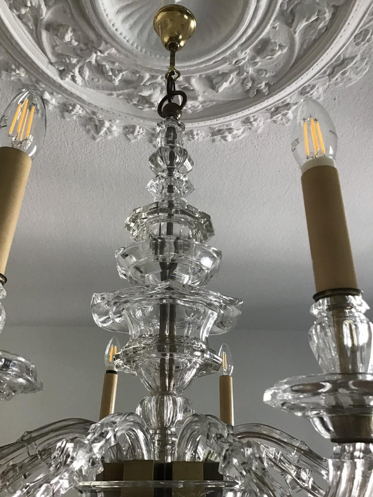 Antique Large Italian Glass Chandelier, 19th Century, circa 1870 In Good Condition For Sale In Wiesbaden, Hessen