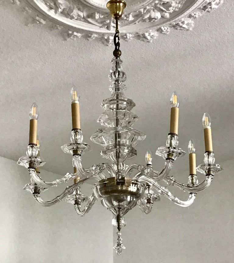 Antique Large Italian Glass Chandelier, 19th Century, circa 1870 For Sale 1