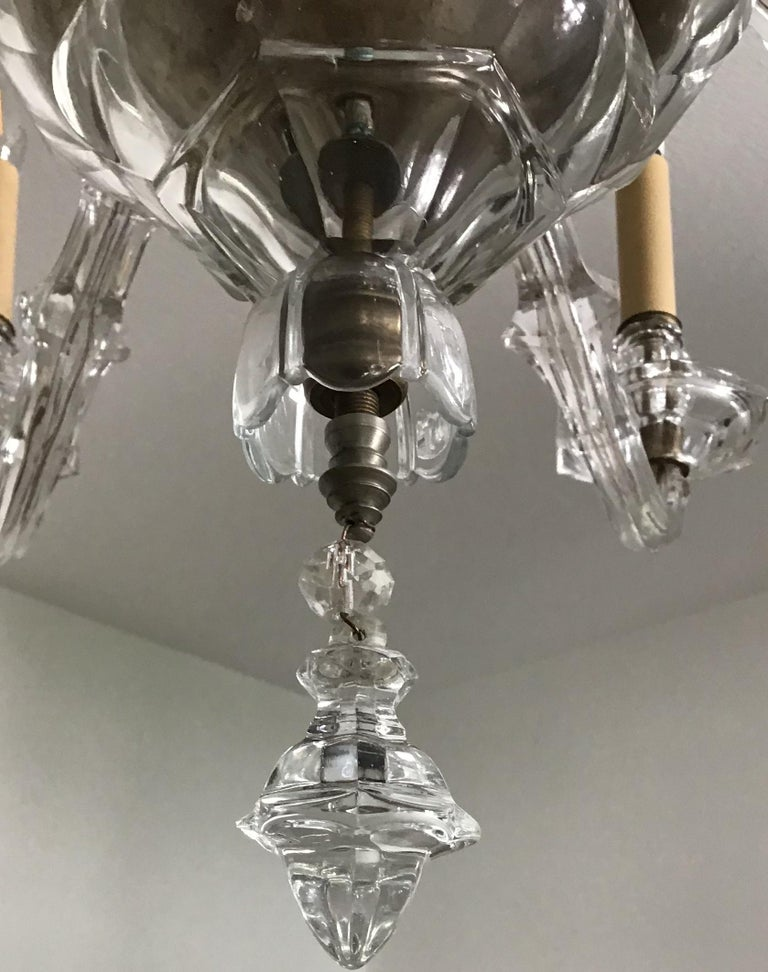 Antique Large Italian Glass Chandelier, 19th Century, circa 1870 For Sale 2