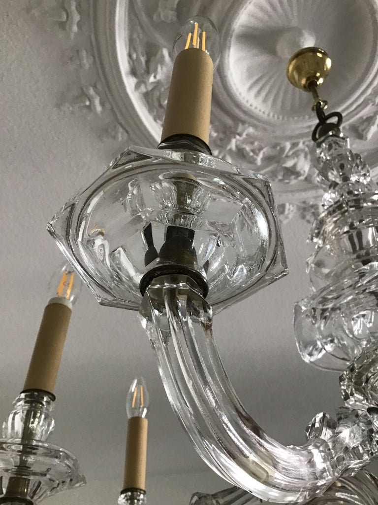 Antique Large Italian Glass Chandelier, 19th Century, circa 1870 For Sale 3