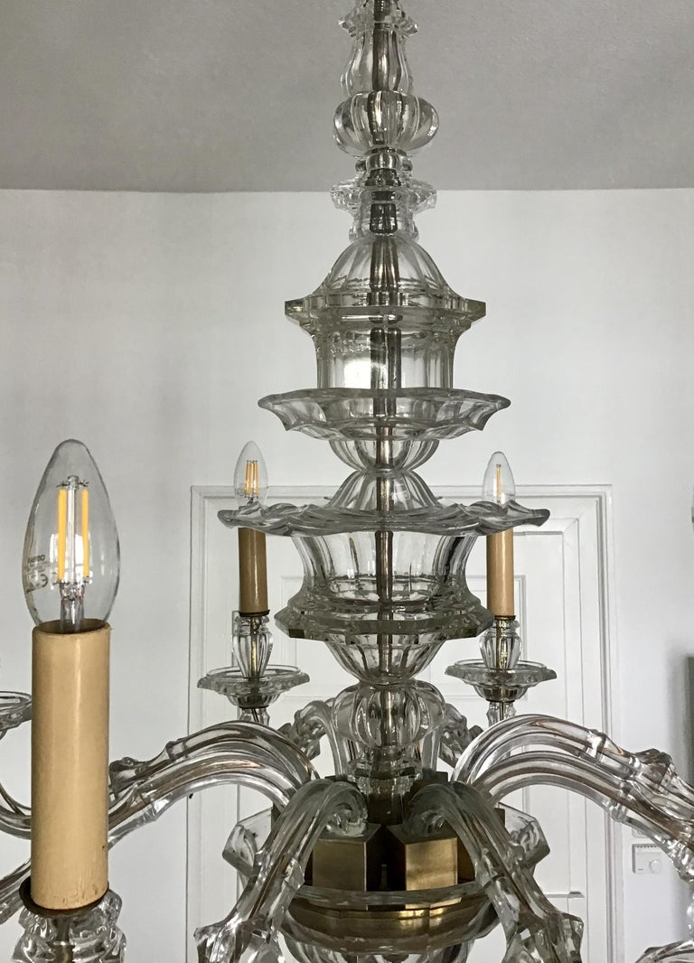 Antique Large Italian Glass Chandelier, 19th Century, circa 1870 For Sale 5