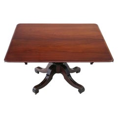 Antique Large JAMES MEIN Cuban Mahogany Dining Table, 19th Century