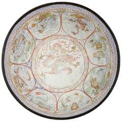 Antique Large Kangxi Marked Bejing Palace Marked Cantonese Bowl Chinese Dragon