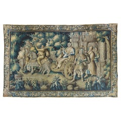 Antique Large Mid-17th Century French Aubusson Historical Tapestry