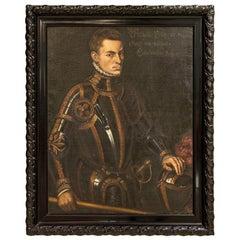 Antique Large Oil on Canvas Portrait of Prince William of Orange