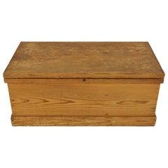Antique Large Pine Blanket Box, Trunk, Chest, Scotland, 1910, BJF