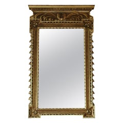 Antique Large Rare Fine Quality Gilt Overmantle or Wall Mirror, circa 1900