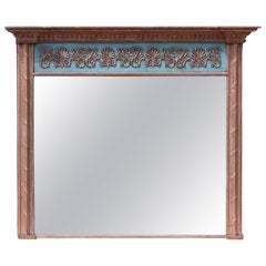 Antique Large Regency Gilt Overmantel Mirror