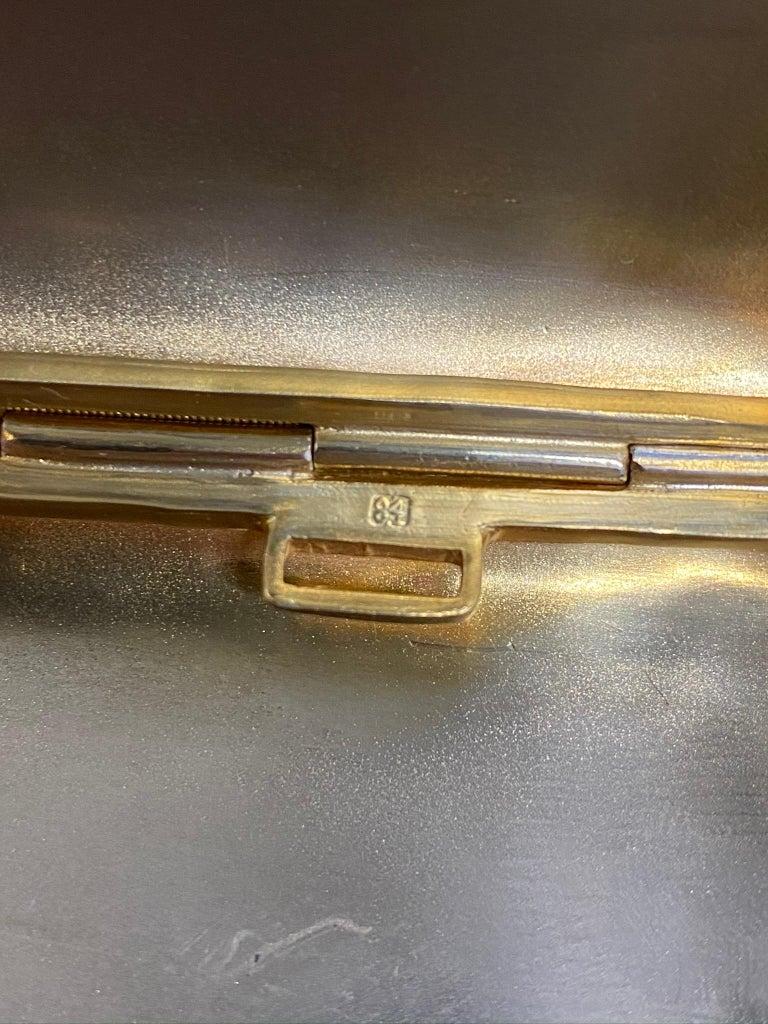 Antique Large Russian Silver 84 Gold Gilt Cloisonné Enamel Cigarette Case For Sale 5
