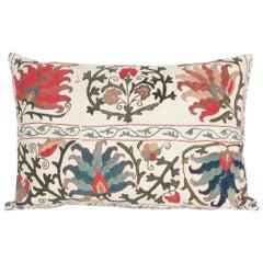 Antique Large Suzani Pillow Made from a 19th Century Uzbek Suzani