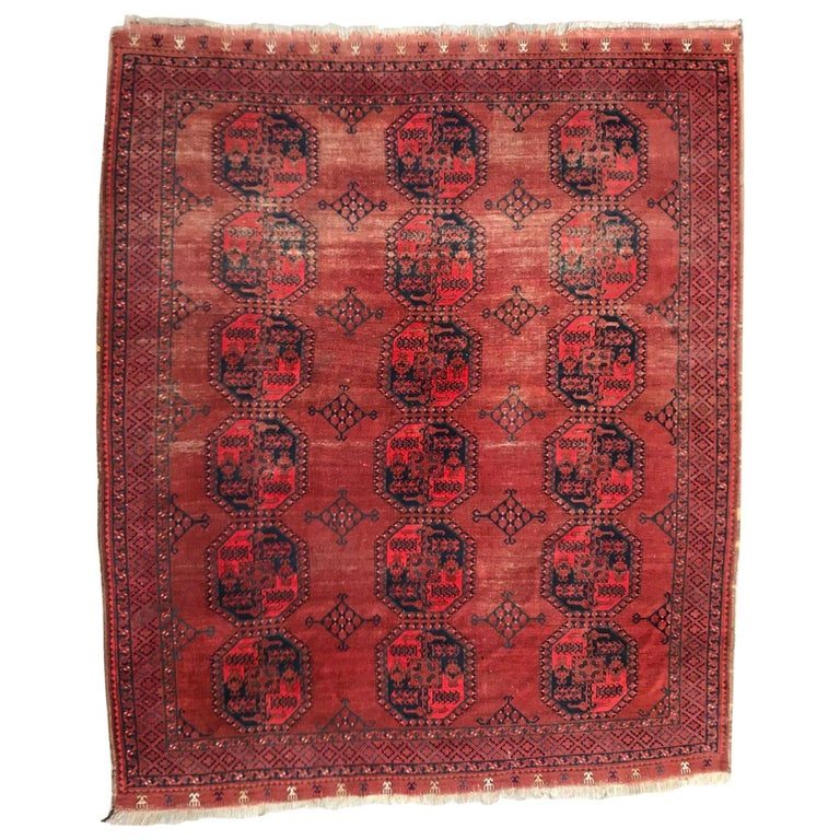 Antique Large Turkmen Ersari Used Rug For Sale At 1stdibs