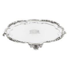 Antique William IV Silver Tray Salver by Paul Storr 1837 19th Century