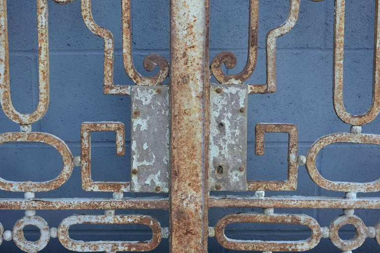 Antique Large Wrought Iron Gate Doors For Sale 6