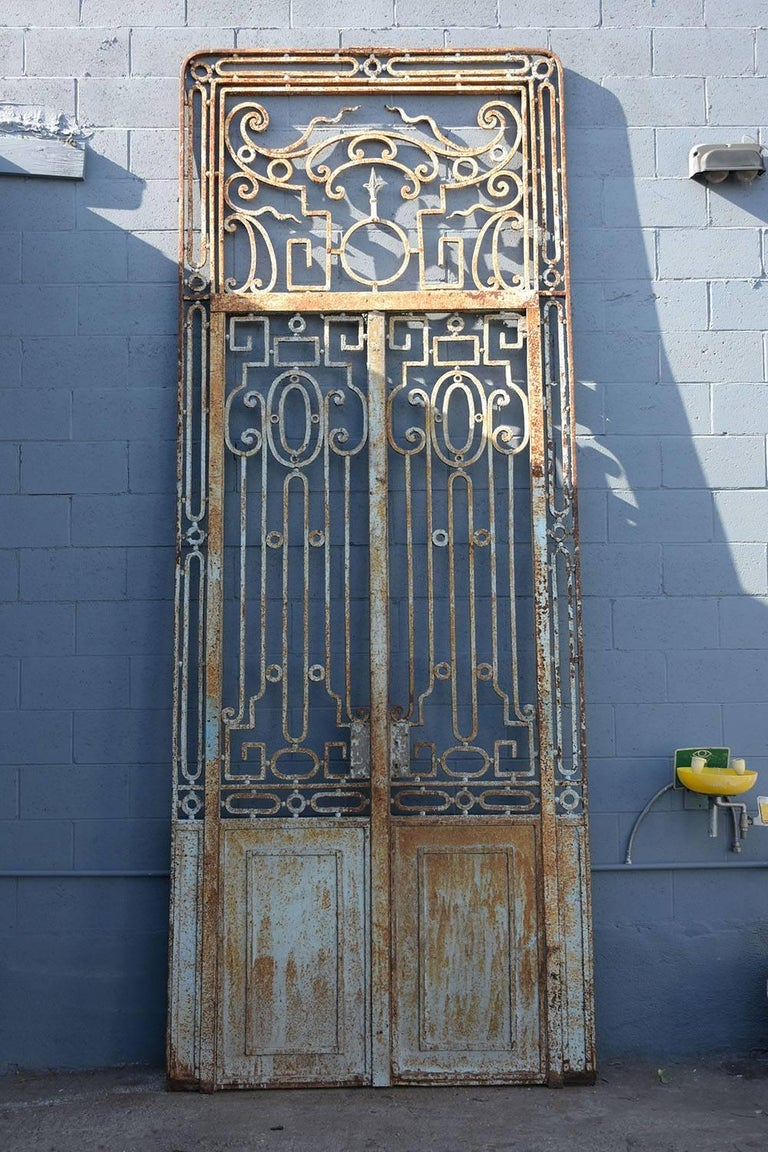Antique Large Wrought Iron Gate Doors For Sale At 1stdibs