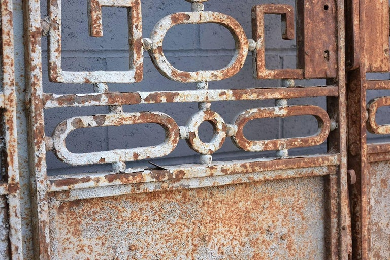 Antique Large Wrought Iron Gate Doors For Sale 1