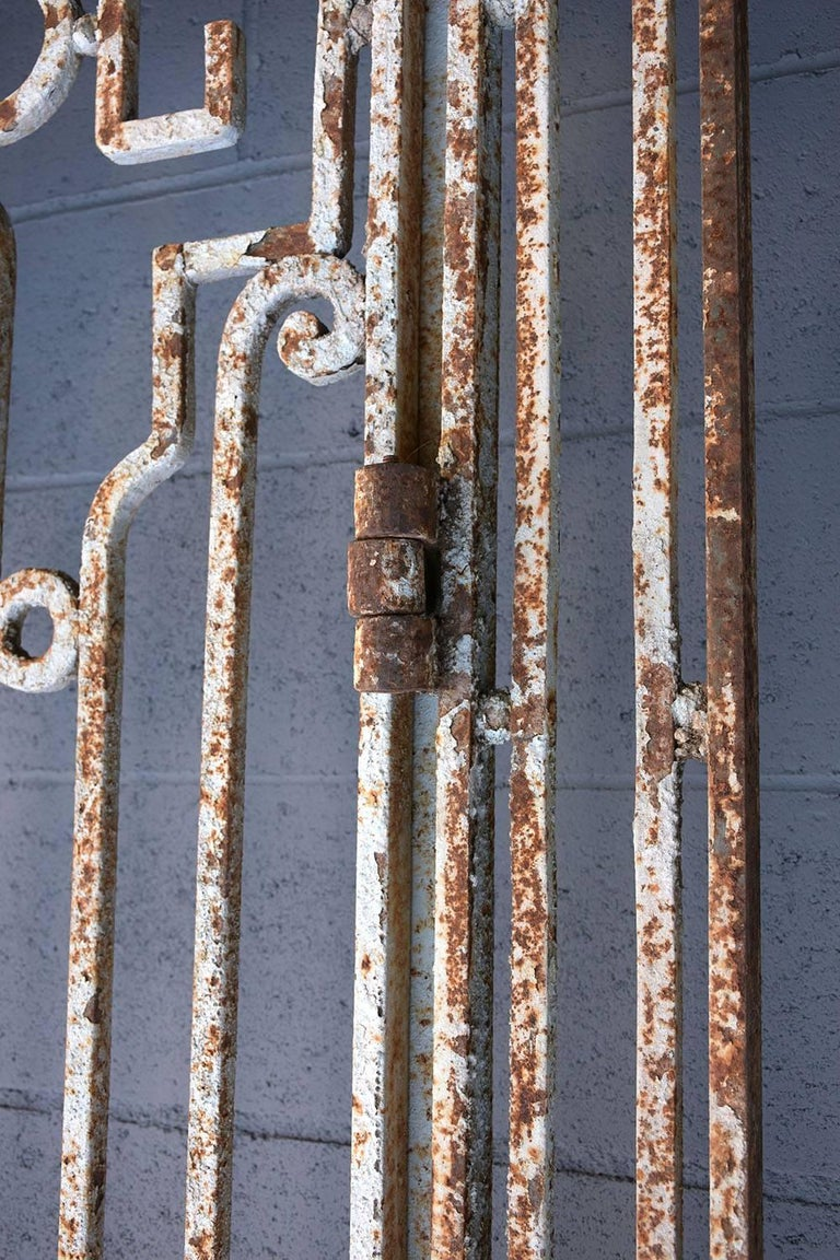 Antique Large Wrought Iron Gate Doors For Sale 3