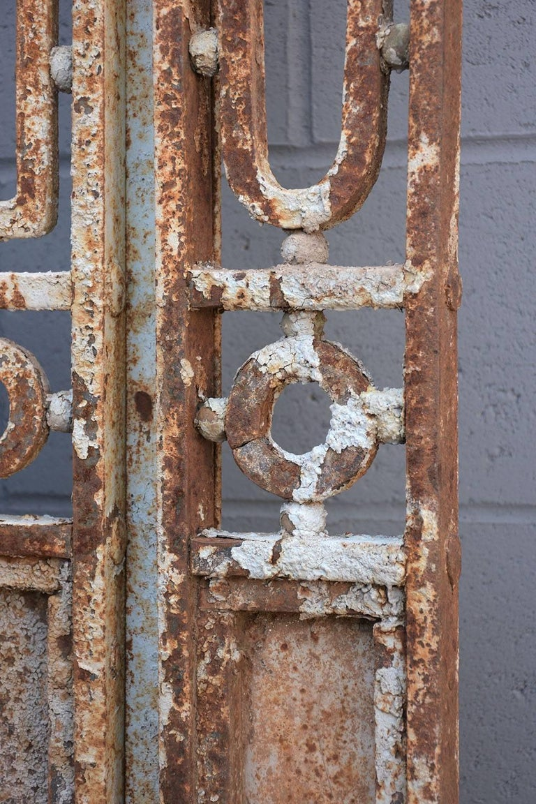 Antique Large Wrought Iron Gate Doors For Sale 4