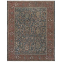 Antique Late 19th Century Authentic Wool Handwoven Persian Sultanabad Rug