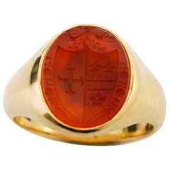 Antique Late 19th Century Carnelian Seal Ring